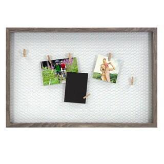Tweden Brown Wood Frame 25-inch x 16.5-inch Chicken Wire Clip