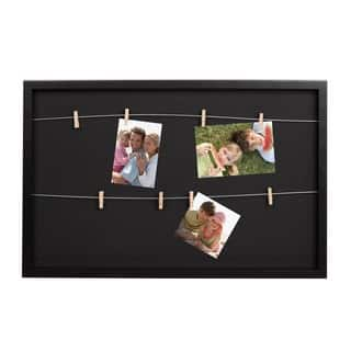 Tweden Black Wood 25 x 16.5 x 1.5-inch Wire with Clothespin Clips Wall Frame Organizer|https://ak1.ostkcdn.com/images/products/11975084/P18857470.jpg?impolicy=medium