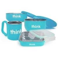 Thinkbaby Blue Steel BPA-free Complete Feeding Set