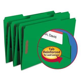 Smead Green Two Fastener Folders (Pack of 50)