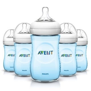 Philips Avent Blue 9-ounce Natural Bottles (Pack of 5)