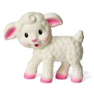 Infantino White Rubber BPA-free Squeezable Teething Lamb