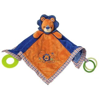 Mary Meyer Levi Lion Polyester 13-inch x 13-inch Activity Blanket