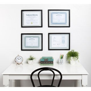 Black Wood Gallery Document Frame (Pack of 4)