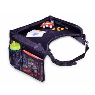 Star Kids Black Nylon Snack Play Travel Tray