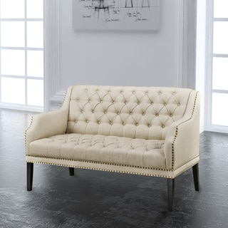 Rosaline Beige Fabric Two-seater