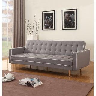 Mid-Century Modern 2-tone Sleeper Futon Sofa