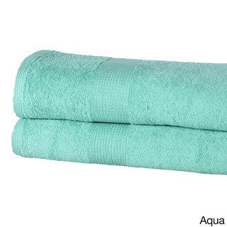 Casa Platino Solid-colored Cotton 550 GSM Oversized Bath Sheets (Set of 2)