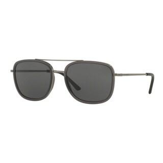 Burberry Men's BE3085Q 10085V Gunmetal Metal Square Sunglasses