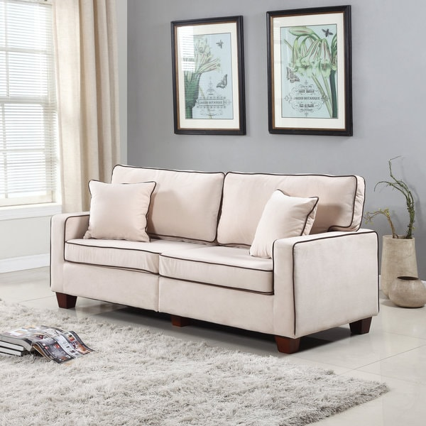 two tone living room furniture. Modern Two Tone Velvet Fabric Living Room Love Seat Sofa  Free