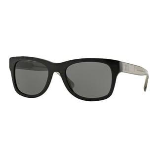 Burberry Men's BE4211 300187 Black Plastic Square Sunglasses
