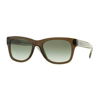 Burberry Men's BE4211 30108E Green Plastic Square Sunglasses
