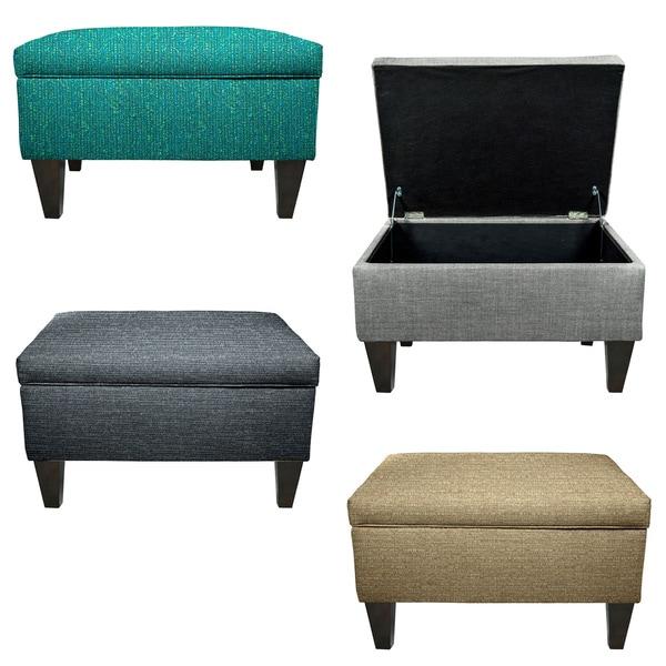 MJL Furniture Brooklyn Upholstered Square Storage Ottoman