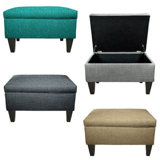 MJL Furniture Brooklyn Upholstered Square Storage Ottoman