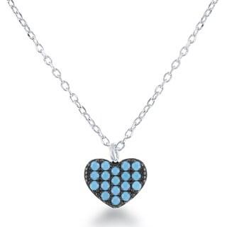La Preciosa Sterling Silver Created-turquoise Necklace