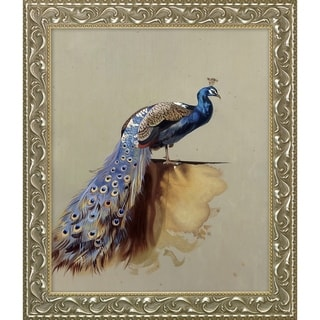 Archibald Thorburn 'Peacock' Luxury Line Hand Painted Framed Canvas Art