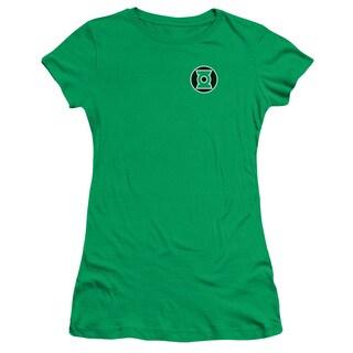 Green Lantern/Kyle Rayner Logo Junior Sheer in Kelly Green
