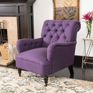 Randle Haven Tufted Studded Fabric Club Chair by Christopher Knight Home