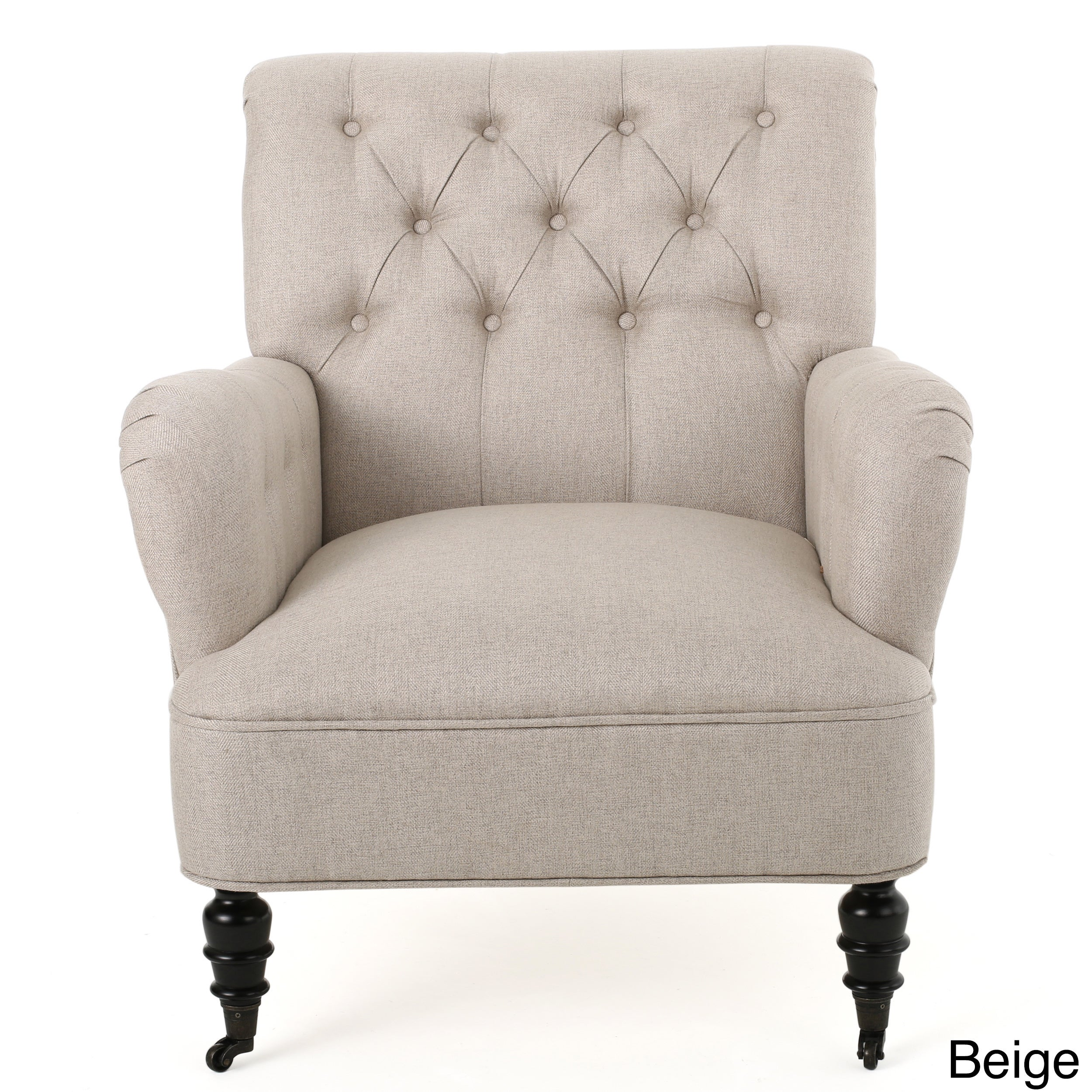 Randle Haven Tufted Studded Fabric Club Chair By