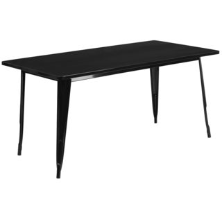 63-inch Rectangular Metal Cafe Table