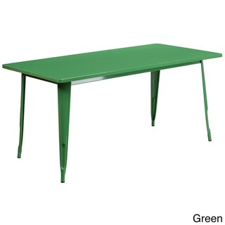 63-inch Rectangular Metal Cafe Table