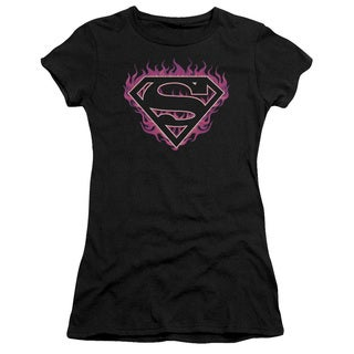 Superman/Fuchsia Flames Junior Sheer in Black