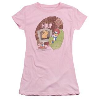Woody Woodpecker/Chocolate Hour Junior Sheer in Pink