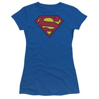 Superman/Classic Logo Junior Sheer in Royal