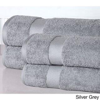 Elegance Spa Oversized Luxurious Cotton 550 GSM Bath Sheets (Set of 4) (Option: Silver)