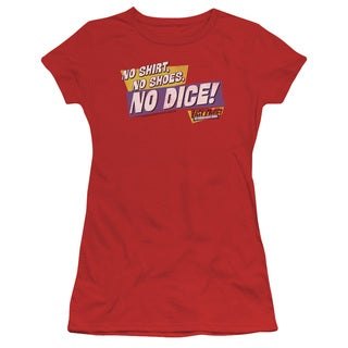 Fast Times Ridgemont High/No Dice Junior Sheer in Red
