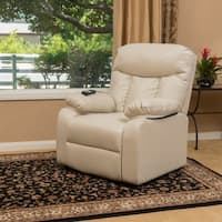 Quade Faux Leather Recliner Lift Club Chair by Christopher Knight Home