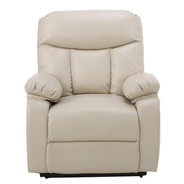 quade faux leather recliner lift club chair by christopher knight home free shipping today
