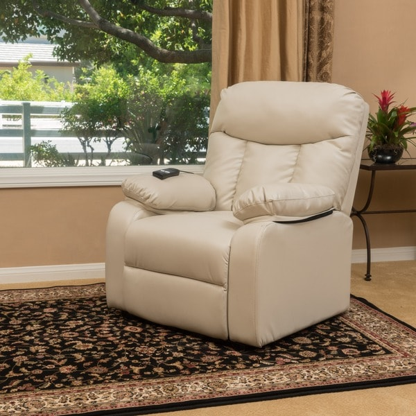 Shop Quade Faux Leather Recliner Lift Club Chair by Christopher ...