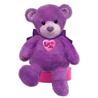 First and Main 10-inch Purple Luv Ya Bear