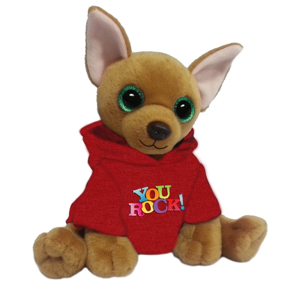 First and Main 7-inch Jaq Plush Dog with Red Hoodie