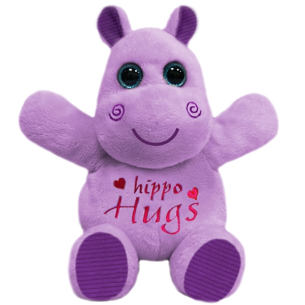 First and Main 10-inch Hug-A-Luvs Plush Hippo