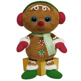 First and Main Santa Buddies Plush Gingerbread Man