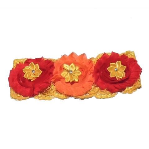 Kid's Orange Flower Headband