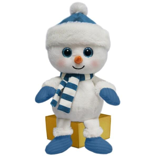 First and Main 7-inch Santa Buddies Plush Snowman