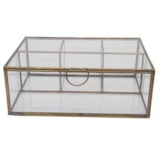 Decorative Brass-trimmed Glass Box