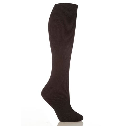 Grabber Heat Holders Women's Black, Brown, Grey, Pink, Wine Polyester Long Leg Socks