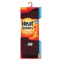 Grabber Men's Heat Holders Polyester Twist Crew Sock