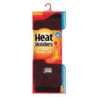 Grabber Men's Heat Holders Polyester Twist Crew Sock
