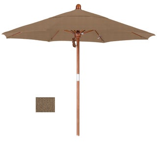 California Umbrella 7.5' Rd. Marenti Wood Frame, Fiberglass Rib Market Umbrella, Double Wind Vent, Olefin Fabric