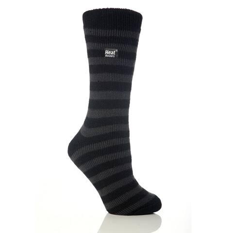 Grabber Heat Holders Ladies Striped Crew Sock