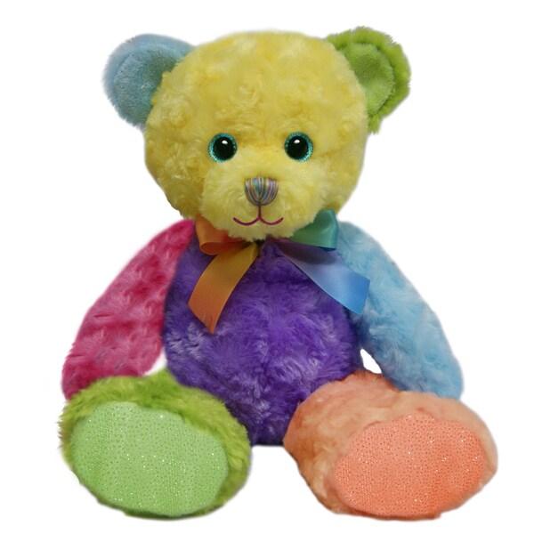 First and Main 10-inch Rainbow Sherbet Bear