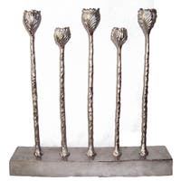 Silver Aluminum Candle Holder
