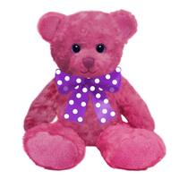 First and Main 10-inch Hot Pink Sorbet Bear