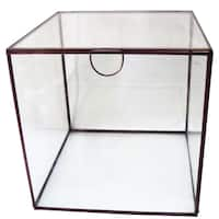 Aluminum/Glass 6-inch Cube Keepsake Box