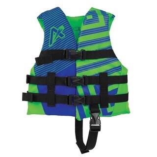 Airhead Trend Boys' Blue/Green EPE Foam Lightweight Closed Side Life Vest